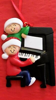 Personalized Around The Piano Family 2 Christmas Tree Ornament Holiday Gift