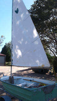 Dingy, 10 ft sailing or outboard.