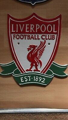 LIVERPOOL FOOTBALL CLUB REPLICA  LARGE CAST IRON PLAQUE WALL ADVERTISING SIGN sh