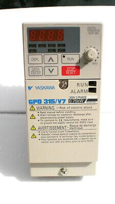 New Yaskawa Drive Cimr-v7am20p7 .75kw 5 Amp 200-230vac 3 Phase 1 Hp