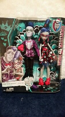 NIB MONSTER HIGH DOLLS COUPLE SLO MO AND - Monster High Couples