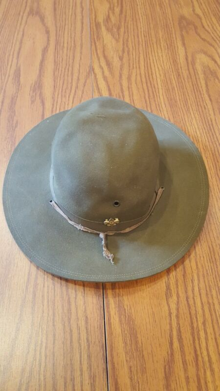 Vintage Official Boy Scouts of America BSA Scout Troop Leader Campaign Hat!