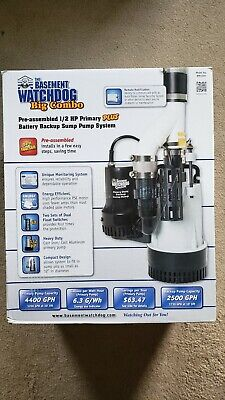 Basement Watchdog Bw4000 - 12 Hp Combination Primary And Backup Sump Pump Sytem