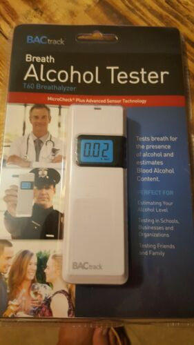 BACtrack Breath Alcohol Tester T60 Breathalyzer White NEW