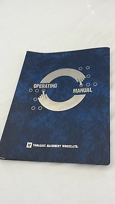 Yamazaki Operating Manual For Mazak Vertical Quality Center Vqc-2040 2050