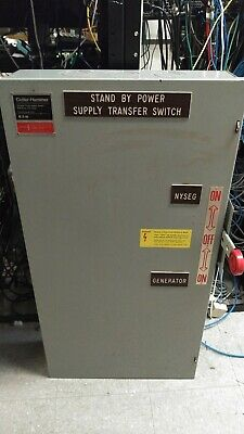 Cutler-hammer Double Throw Transfer Switch 200 Amp 240 Vac 3 Phase 3 Wire