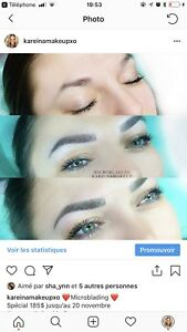Microblading spécial 185$/ maquillage / extensions cils