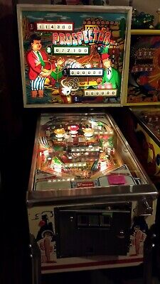 VERY NICE Vintage Sonic Segasa Williams Prospector EM Pinball Machine