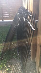 Iron fence sections and post