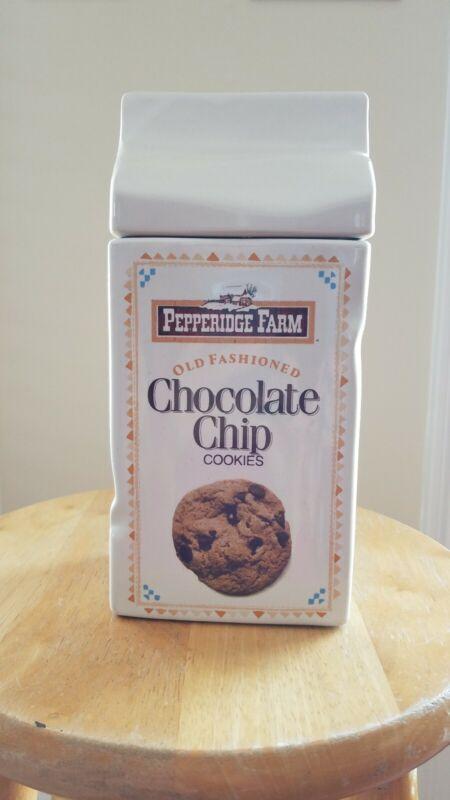 Cookie Jar Pepperidge Farm , Ginger Man And Chocolate Chip Ceramic