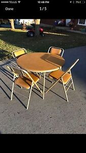 Folding Chairs and Table  Peterborough Peterborough Area image 2