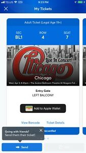 Chicago the band concert tickets