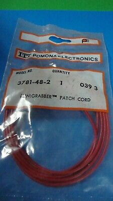 Pomona 3781-48-2 36 Mini Grabber Test Clip Each End 1 Red
