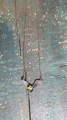 Halskette silbern Eule mit Brief Vogel Anhänger Fliegen  (Brief Halskette)