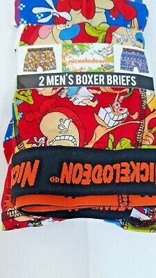 Nickelodeon Men's Boxer Briefs Rugrats 2 Pack Shorts Graphic Boxers Christmas  ()
