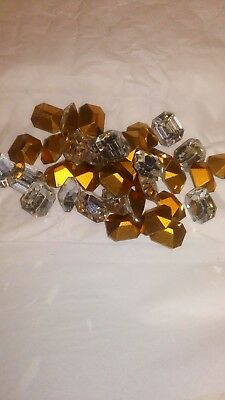 Swarovski vintage 12 rectangles 12X10MM Crystal N°16