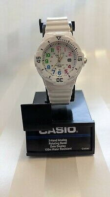 Casio Women's Analog White Resin Band, 100 Meter Water Resistant Small Simple New Casio Analog Water