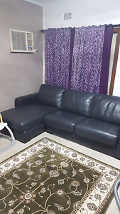 FREEDOM LEATHER LOUNGE WITH DOUBLE SOFA BED Blacktown Blacktown Area Preview