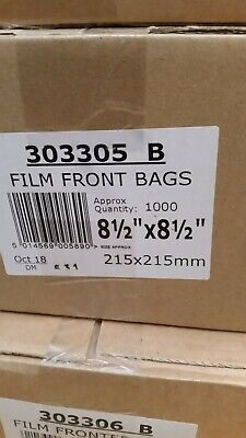 1000 X FILM FRONT WHITE PAPER BAGS. 8.5
