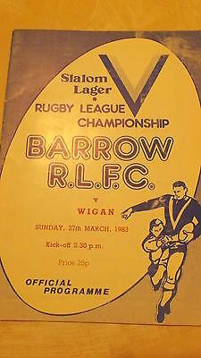 27.3.83 Barrow v Wigan programme