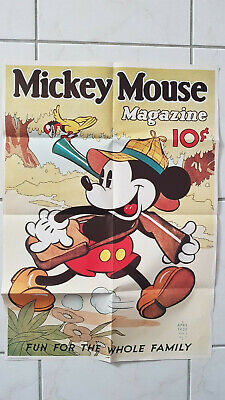 REPRINT PICTURE of a old walt disney magazine MICKEY MOUSE ICE SKATING 1936 5x7