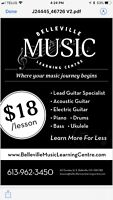 Music Lessons Guitar Piano Drums Bass Ukulele $18 Lesson