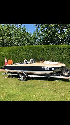15' Glastron Power Boat, 20hp Honda 4 Stroke & Trailer