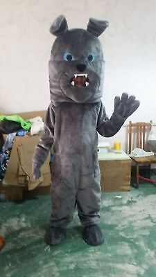 Halloween Shar Pei Grey Dog Mascot Costume Suit Cosplay Party Fancy Dress Outfit](Shar Pei Halloween Costumes)