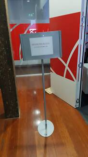 FREE STANDING SIGN HOLDER office work display stand meeting