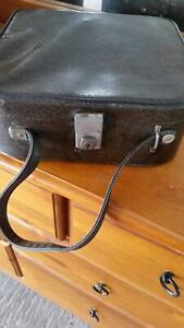 Vintage train case or beauty make up case