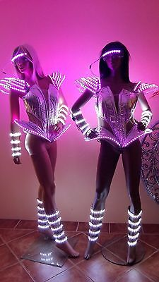 Corset with or without LED lights ! Costume Dance Outfit Robot Clothes Lady - Clothing With Led Lights