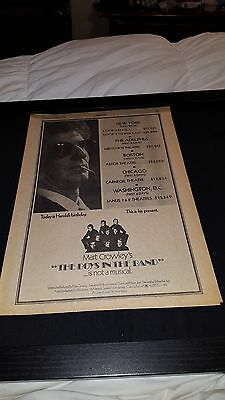 Mart Crowley's The Boys In The Band Rare Original Promo Poster Ad Framed!