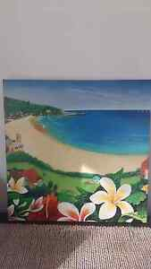Beautiful Beach Scene Wall Art / Canvas 60x60cm Deakin South Canberra Preview