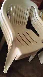 Outdoor white plastic chairs Fairfield Fairfield Area Preview