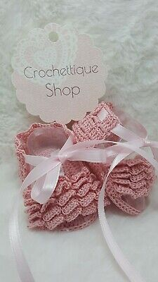 Handmade Crochet Small Baby Shoes Crocheted Baby Shoes