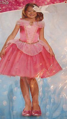 NEW Sleeping Beauty Costume Kids Disney Princess Aurora Halloween Dress Up 4-6X (Sleeping Beauty Halloween Costume Child)