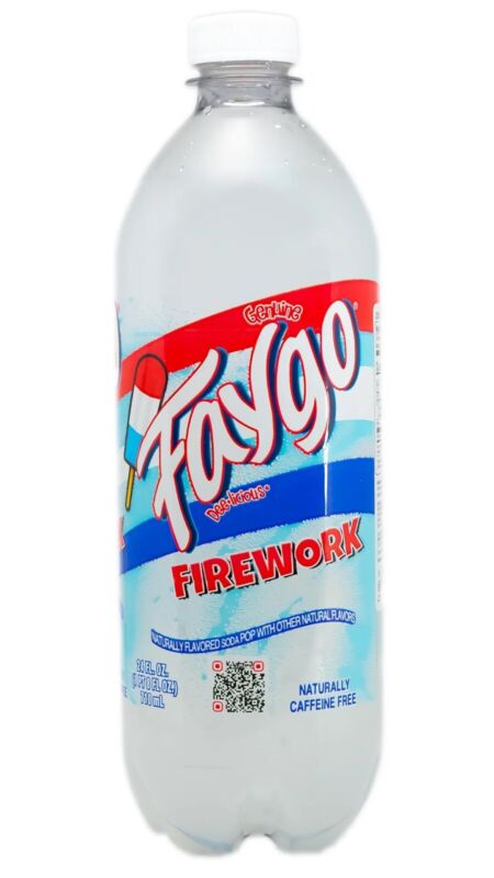 2 Bottles Of Faygo Firework Bomb Pop Big 24 Oz LIMITED EDITION - Free Shipping