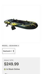 Seahawk 4 inflatable boat used once