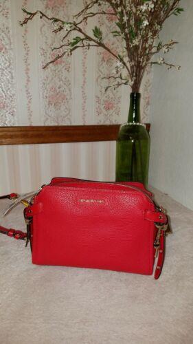 Michael Kors Bristol Medium Messenger Bag Leather Bright Red