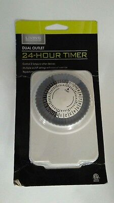 Living Solutions Dual Outlet 24-Hour Timer
