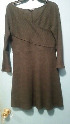 Charlotte Russe XL Sweater Dress Gray Good Condition