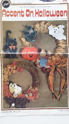 Accent on Halloween- Vintage Tole Painting Book - Tole Painting Books Halloween