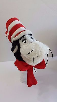 Dr. Suess Hand Puppet Cat in the Hat Soft Story Telling 2002 Manhattan Plush Stu