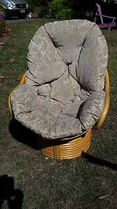 VINTAGE EGG CANE POD SWIVEL CHAIR Adelaide Region Preview