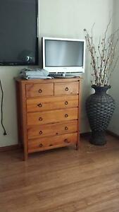 SOLID PINE 6 drawer TALLBOY Bass Hill Bankstown Area Preview