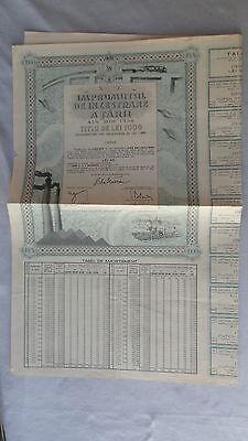 Imprumutul de Inzestrare a Tarii-4,5% Din 1934-Titlu de Lei 1000-v.1929