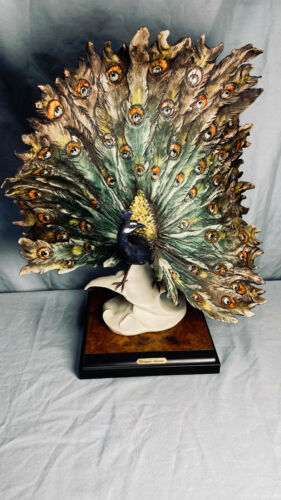 "Giuseppe Armani ""Peacock"" Figurine - No Box - Beautiful Sculpture! See Pics"