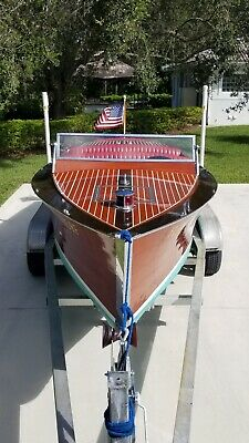 1930 Triple Cockpit Chris Craft Antique 20-0 Model 100 mahogany Speedboat