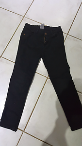 Girls black jeans size 6 Andrews Farm Playford Area Preview