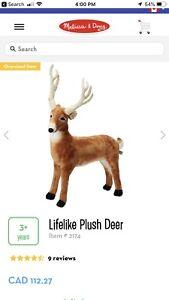 Giant plush deer
